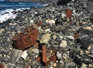 Restos dun barco afundido